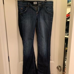 Hudson Flare Jeans with Button Pockets